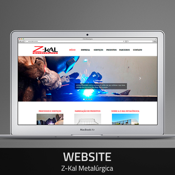 Website Z-Kal Metalúrgica